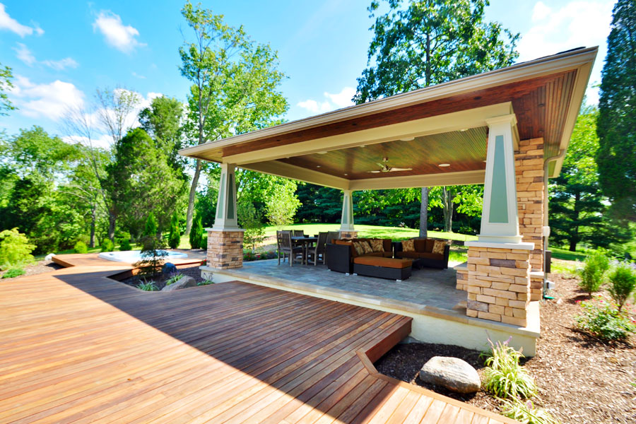 The benefits of outdoor living spaces happiness creativity for Outdoor living space plans