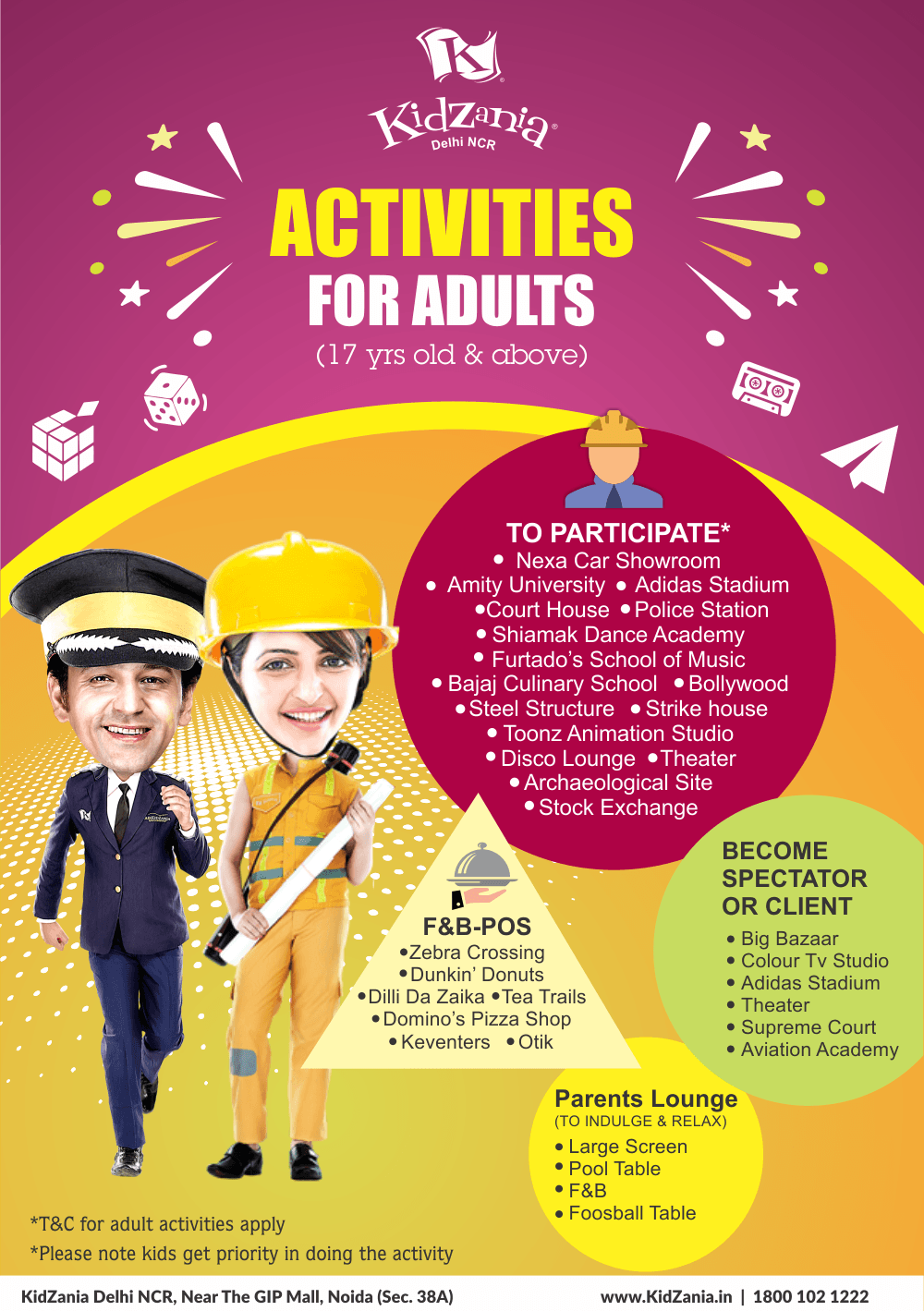Activities for Adults-Delhi