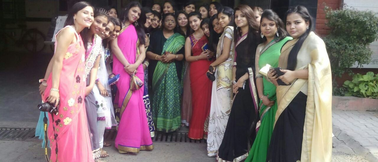 Group of girls in saree