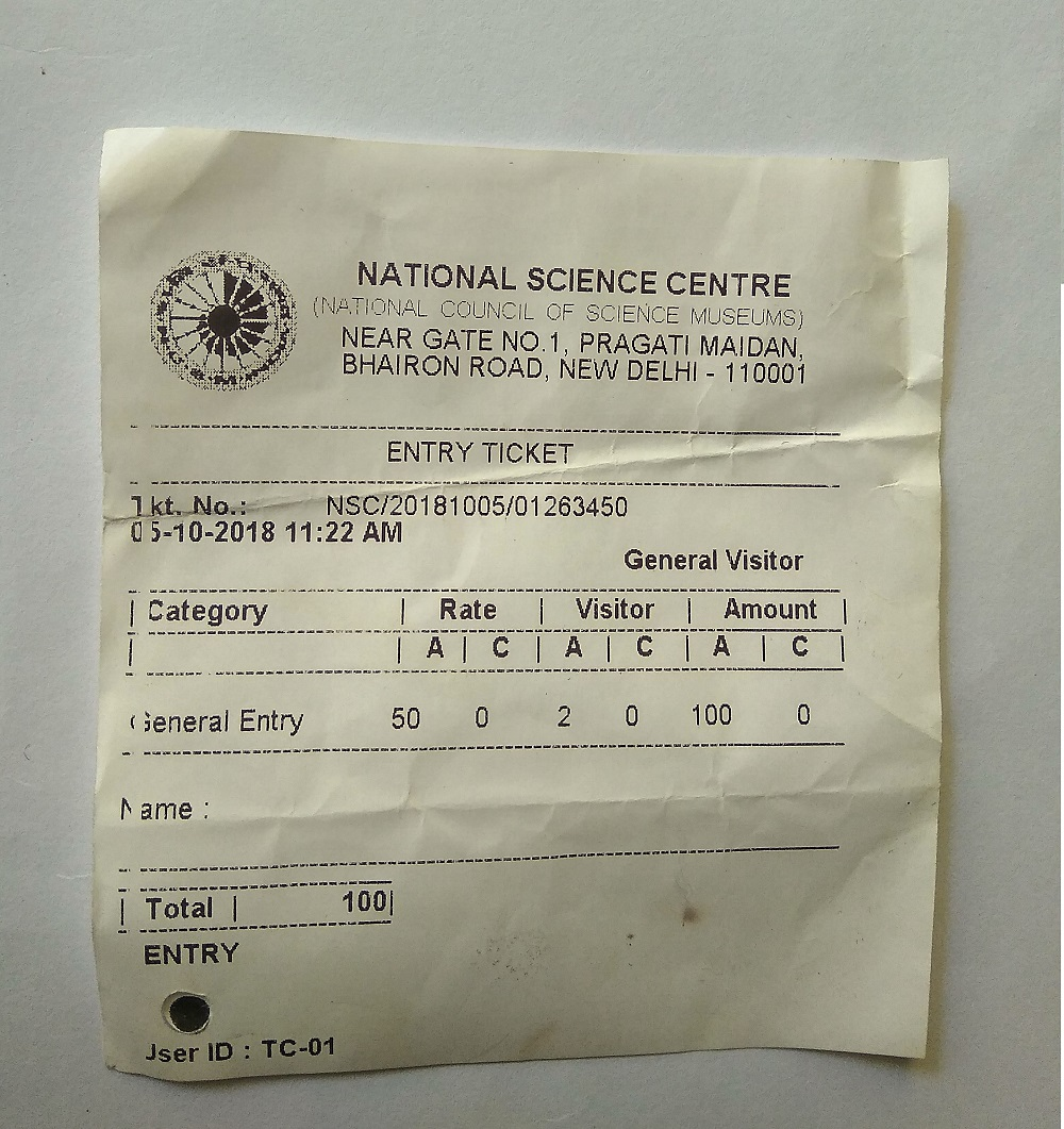 National Science museum ticket